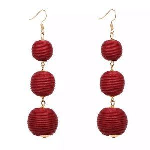 Jewelry - Red Bauble Bon Bon Drop Earrings